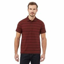 Rjr.John Rocha Mens Red Stripe Polo Shirt From Debenhams