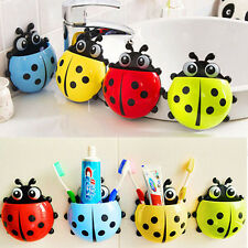 New Cute Ladybug Sucker Toothbrush Holder Household Toothbrush Rack Bathroom Set