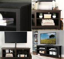 """TV Stand Entertainment For Flat Screens Plasma  Storage Wood Espresso Up To 60"""""""