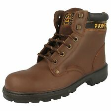 Totectors 3906 Unisex Brown Leather STEEL TOE CAP Lace Up Safety Work Boots
