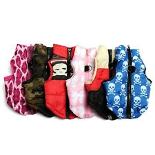 Pet Dog Puppy Coat Cotton Padded Vest Jacket Harness Clothes Apparel XS-L