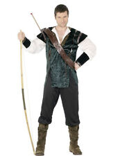 Adult Mens Robin Hood Medieval Fairytale Archer Fancy Dress Outfit Costume