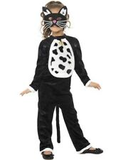 Child Girls Animal Black Cat Kitty Halloween Fancy Dress Outfit Costume