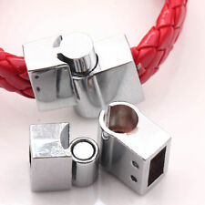 5Sets Strong Magnetic Clasps Hook Connector Silver Plated For Bracelet Making