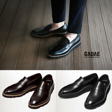 GDH227 Italian Leather Slip Ons Penny Loafers Comfort Casual Formal Dress Shoes