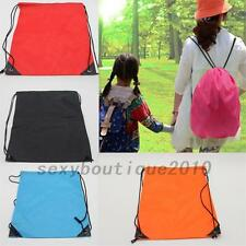 School Drawstring Duffle Shopping Bag Sport Gym Swim Dance Shoe Backpack Tool