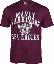 Manly Sea Eagles NRL Supporter T-Shirt Tee BNWT Mens Rugby League Clothing