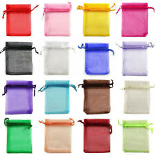 50Pcs Wedding Favor Organza Sheer Candy Bags Xmas Gift Jewellery Pouches Packing