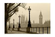 Big Ben And Houses Of Parliament, London In Fog Art Print by tombaky, Wall Decor
