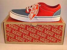Vans Atwood (2 Tone) Red / Blue Canvas Skateboard Sneakers / Skate Shoes   ~New~
