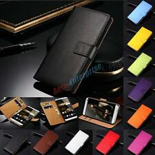 Genuine Flip Leather Stand Cover Wallet Card Holder Case Protector For Huawei