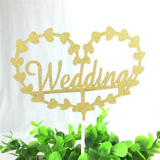 1pc Wedding Cake Toppers Gold Silver Flag For Wedding And Wedding Anniversary