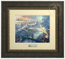 Thomas Kinkade Disney Tinker Bell and Peter Pan Fly to Neverland  Prestige Home