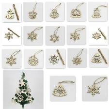 5x Xmas Tree Craft Embellishment Wood Hanging Decor Home Party Mall Tag 6 Sizes