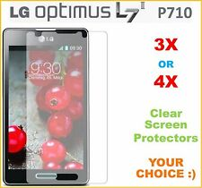 3X or 4X LOT LG Optimus L7 II P710 Clear Screen Protector Film Fast Shipping NEW