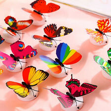 Colors Changing Butterfly LED Light Night Mood Lamp Fairy Garden Party Sticker