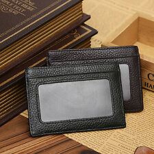 Men Faux Cowhide Leather Money Clip Wallet Credit Card ID Holder Pocket Stunning