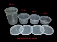 Food, Storage, Containers, Deli, Takeout, with Lids, Combo, Bulk, Set