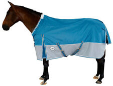 CARIBU Turnout Rainsheet Horse Rug 1200 Denier Waterproof, Reflectors, Teal