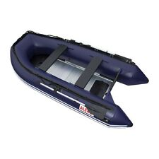 ALEKO Inflatable Boat With Aluminum Floor 4 Prs Fishing Raft  10.5 Ft Blue
