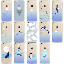 New Silicone Ocean Animal Pattern Soft TPU Case Cover For iPhone 7 6s Plus 5 SE
