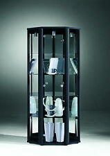 Retail Shop Space Corner Glass Display Cabinet with Internal Light