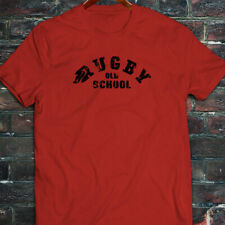 RUGBY OLD SCHOOL SPORTS MATCH GAME BALL VINTAGE Mens Red T-Shirt
