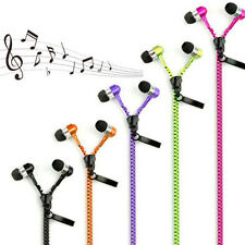 Fashion Stereo 3.5mm in-Ear Earphone Earbuds Headphone with Mic Zipper Headset W