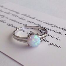 Fire Opal genuine solid 925 Sterling Silver  Gemstone Jewelry Ring 7,8,9