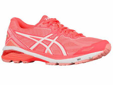 NEW WOMENS ASICS GT-1000 V5 GEL RUNNING SHOES TRAINERS FLASH CORAL / WHITE / PEA