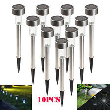 5/10X Outdoor Garden Stainless Steel LED Solar Landscape Path Lights Yard Lamp B