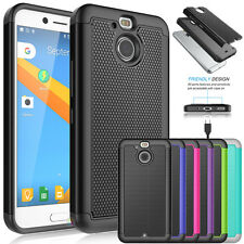 For HTC Bolt HTC 10 Evo Hybrid Slim Armor Defender Protective Hard Case Cover