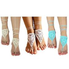 NEW Barefoot Beach Sandals Crochet Anklet Beach Wedding Yoga Shoes Foot Jewelry