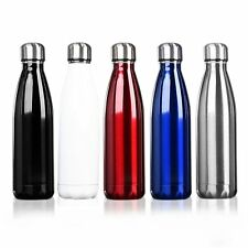 500ml Stainless Cola Shaped Double Wall Vacuum Water Bottle Insulated  Flask SY
