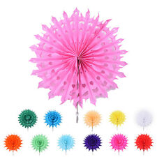 Multicolor Hanging Tissue Paper Snow Wheel Fan Wedding Party Decorations  IO