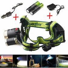 20000LM 4-Mode XML T6 LED Headlamp Headlight Flashlight Headlight 18650+Charger