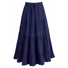 Peasant Skirt - Tiered Lacy Cotton Broom Skirt