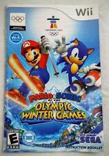 MARIO SONIC OLYMPIC WINTER GAMES (Nintendo Wii) MANUAL ONLY (NO GAME)***PERFECT