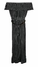 Womens Polka Dot Belted Sexy Jumpsuit