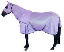 CARIBU Euro-Breeze 270gsm FLY AIR MESH Attached Hood Horse Rug, Durable. PURPLE