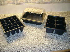 HALF SIZE SEED TRAYS &  CLEAR PROPAGATOR TOPS &  20 CELL TRAYS or 6 CELL TRAYS