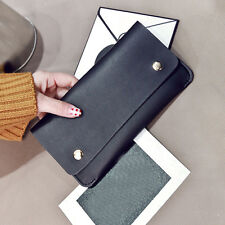 Women Clutch Rivet Long Purse Wallet Card Holder Handbag Leather Phone BifoldBag