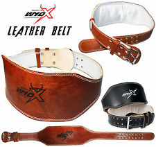 Wyox Padded Leather Weight Lifting Belt Crossfit Gym Powerlifting Training 6 in