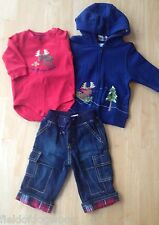 NWT GYMBOREE JOLLY MOOSE WINTER Set BOYS Bodysuit Hoodie Jacket Jean 3PCS 3 6 M
