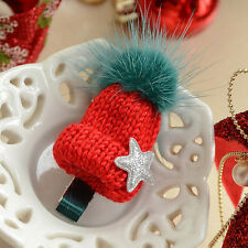 Women Elastic Hair Ties Band Ropes Hair Clip Accessories Knitted Hat Shaped