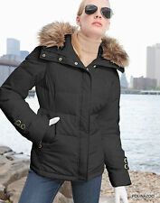 Calvin Klein coat Hooded Puffer Black Down Jacket Coat $299 NWT пуховик OBO