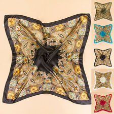 35'' x35'' Scarf Square Large Headband Kerchief Luxury Wrap Bandana Women Satin