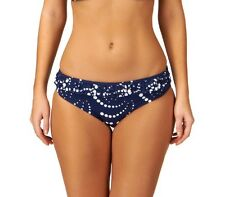 Audelle Lepel Chica Spot Mid rise Hipster Bikini Brief Pant Navy White sz 8-16