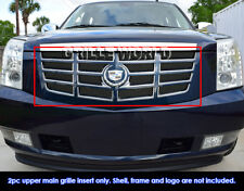 Fits 2007-2014 Cadillac Escalade Stainless Steel No Frame Black Mesh Grille