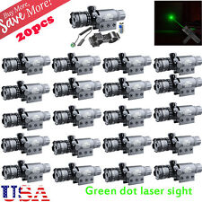 LOT 20 Tactical Hunting Rifle Green Laser Sight Dot Scope Adjustable w/ Mounts A